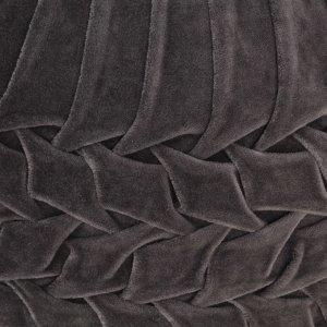 Πουφ με Smock Σχέδιο Ανθρακί 40 x 30 εκ. από Βαμβακερό Βελού&delta