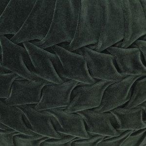 Πουφ με Smock Σχέδιο Πράσινο 40 x 30 εκ. από Βαμβακερό Βελούδ&