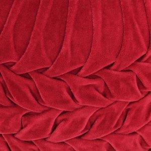 Πουφ με Smock Σχέδιο Κόκκινο 40 x 30 εκ. από Βαμβακερό Βελού&de