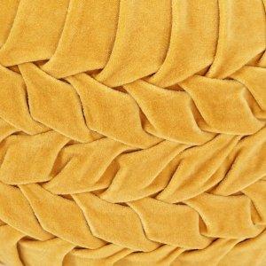 Πουφ με Smock Σχέδιο Κίτρινο 40 x 30 εκ. από Βαμβακερό Βελούδ