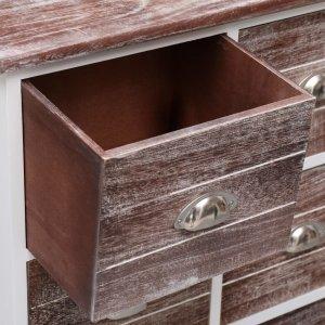 Συρταριέρα με 6 Συρτάρια Καφέ 60x30x75 εκ. από Ξύλο Παυλώνια&sig