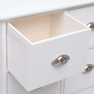 Συρταριέρα με 6 Συρτάρια Λευκή 60x30x75 εκ. από Ξύλο Παυλών&io