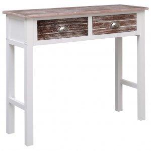 Τραπέζι κονσόλα καφέ 90 x 30 x 77 εκ ξύλινο