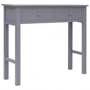 Τραπέζι κονσόλα γκρι 90 x 30 x 77 εκ ξύλινο