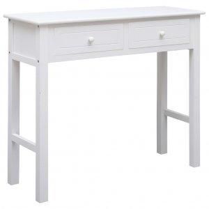 Τραπέζι κονσόλα λευκό 90 x 30 x 77 εκ ξύλινο