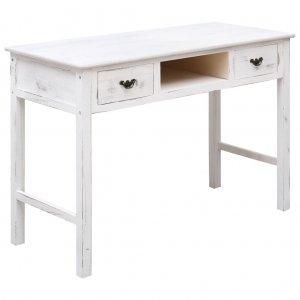 Τραπέζι κονσόλα αντικέ λευκό 110 x 45 x 76 εκ ξύλινο