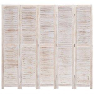 Διαχωριστικό Δωματίου με 5 Πάνελ 175 x 165 εκ. Ξύλινο