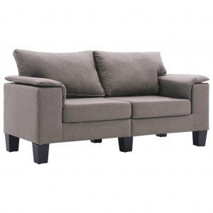 Καναπές Διθέσιος Χρώμα Taupe Υφασμάτινος