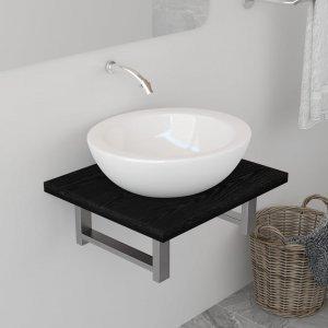 Έπιπλο Μπάνιου Μαύρο 40 x 40 x 16,3 εκ.