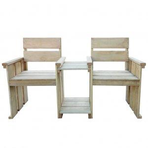 Κάθισμα Διθέσιο Κήπου 150 εκ. από Εμποτισμένο Ξύλο Πεύ&kap