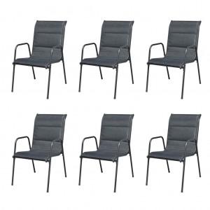 Καρέκλες Κήπου Στοιβαζόμενες 6 τεμ. Μαύρες από Ατ&sigma