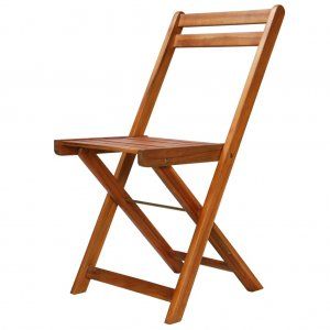 Καρέκλες Bistro Εξωτερικού Χώρου 2 τεμ. από Μασίφ Ξύλο Ακ&alp