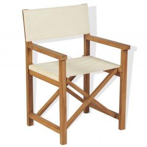 Καρέκλα Σκηνοθέτη Πτυσσόμενη από Μασίφ Ξύλο Ακακίας