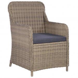 Καρέκλες Εξωτερικού Χώρου 2 τεμ. Καφέ Συνθ. Ρατάν με