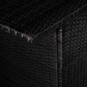 Σετ Επίπλων Bistro 3 τεμ. Μαύρο Συνθετικό Ρατάν με Μαξιλάρι&alp
