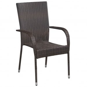 Καρέκλες Κήπου Στοιβαζόμενες 2 τεμ. Καφέ από Συνθ&epsi