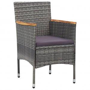 Καρέκλες Τραπεζαρίας Κήπου 2 τεμ. Γκρι από Συνθετ&io
