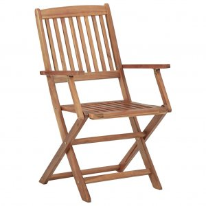 Καρέκλες Κήπου Πτυσσόμενες 4 τεμ. από Μασίφ Ξύλο Ακ&alph