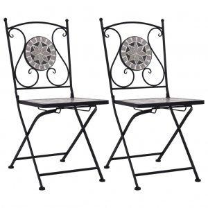 Καρέκλες Μπιστρό «Μωσαϊκό» 2 τεμ. Γκρι