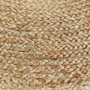 Πουφ Χειροποίητο Γκρι 40 x 45 εκ. από Γιούτα