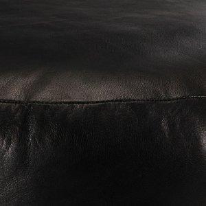 Πουφ Μαύρο 60 x 30 εκ. από Γνήσιο Δέρμα Κατσίκας