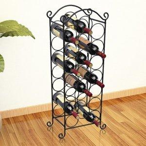 Ραφιέρα Κρασιών για 21 Μπουκάλια Μεταλλική