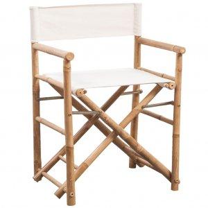 Καρέκλα Σκηνοθέτη 2 τεμ. Πτυσσόμενη από Μπαμπού / Καραβόπανο