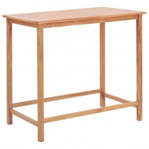Τραπέζι Μπαρ Κήπου 120 x 65 x 110 εκ. από Μασίφ Ξύλο Teak