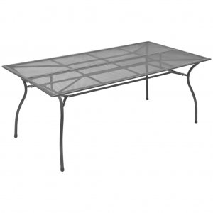 Τραπέζι Κήπου Ανθρακί 180 x 83 x 72 εκ. Ατσάλινο Πλέγμα