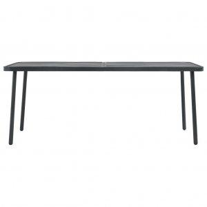 Τραπέζι Κήπου Σκούρο Γκρι 180 x 83 x 72 εκ. Ατσάλινο
