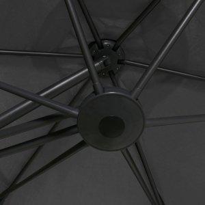 Ομπρέλα Κήπου Ανθρακί 300 x 250 εκ. με Ατσάλινο Ιστό