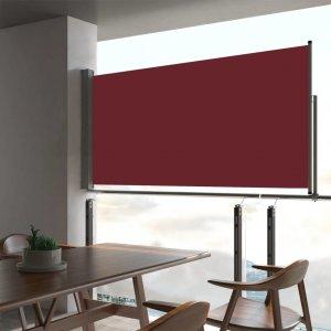 Σκίαστρο Πλαϊνό Συρόμενο Βεράντας Κόκκινο 80 x 300 εκ.