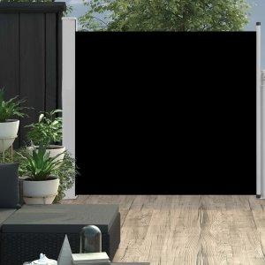 Σκίαστρο Πλαϊνό Συρόμενο Βεράντας Μαύρο 170 x 300 εκ.