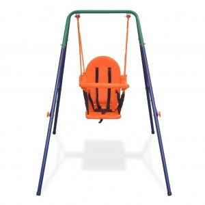 Κούνια για Μωρά Πορτοκαλί με Ιμάντα Ασφαλείας