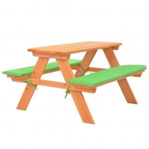 Τραπέζι Πικνικ με Πάγκους Παιδικό 89x79x50 εκ Μασίφ Ξύλο Ελάτης