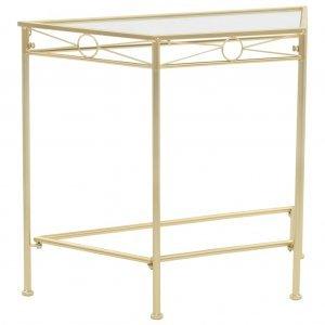 Βοηθητικό Τραπέζι Vintage Στιλ Χρυσό 87 x 34 x 73 εκ. Μεταλλικό