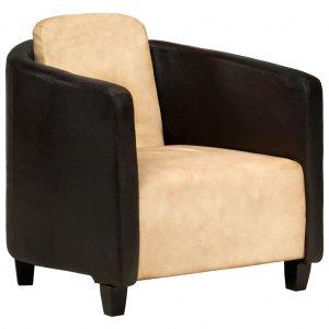 Πολυθρόνα Ταμπά / Μαύρη από Γνήσιο Δέρμα