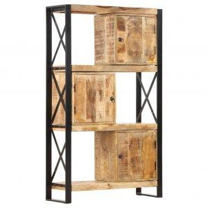 Βιβλιοθήκη 90 x 30 x 150 εκ. από Μασίφ Ξύλο Μάνγκο