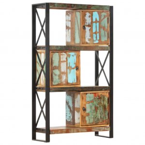 Βιβλιοθήκη 90 x 30 x 150 εκ. από Μασίφ Ανακυκλωμένο Ξύλο