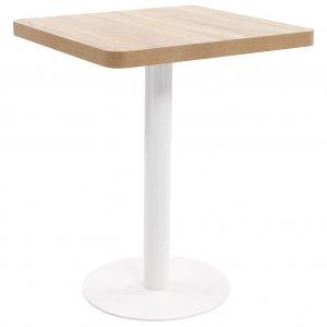 Τραπέζι Μπιστρό Ανοιχτό Καφέ 60 x 60 εκ. από MDF