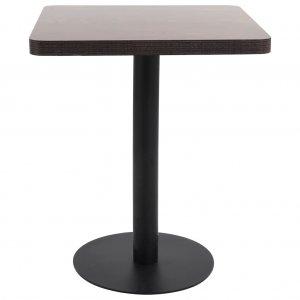 Τραπέζι Μπιστρό Σκούρο Καφέ 60 x 60 εκ. από MDF