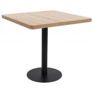 Τραπέζι Μπιστρό Ανοιχτό Καφέ 80 x 80 εκ. από MDF