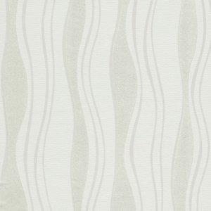 Non Woven Ρολά Ταπετσαρίας Σχέδιο Κύματα 2 τεμ. Λευκά 0,53x10 μ