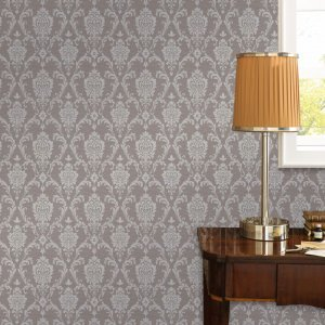 Non Woven Ρολά Ταπετσαρίας Ornament Busy 4 τεμ. Taupe 0,53x10 μ