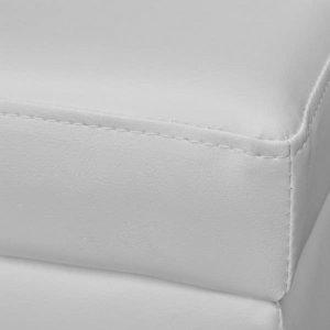 Ταμπουρέ με αποθηκευτικό χώρο Λευκό Μακρύ Ξύλινο