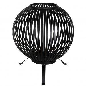 Esschert Design Τζάκι Εξωτ. Χώρου Σφαιρικό Μαύρο Ανθρακοχάλυβας FF400
