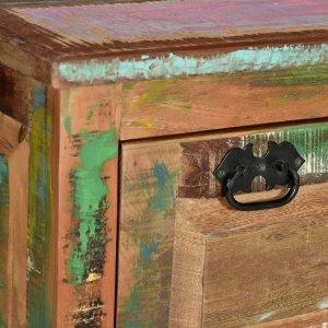 Παπουτσοθήκη / Πάγκος από Μασίφ Ανακυκλωμένο Ξύλο