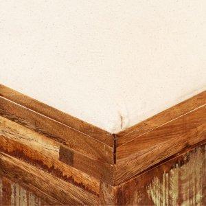 Πάγκος Αποθήκευσης 80 x 40 x 40 εκ. από Μασίφ Ανακυκλωμένο Ξύλο
