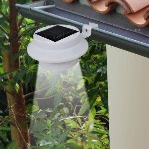 Φωτιστικά Περίφραξης Εξωτερικού Χώρου Ηλιακά LED 12 τεμ. Λευκά