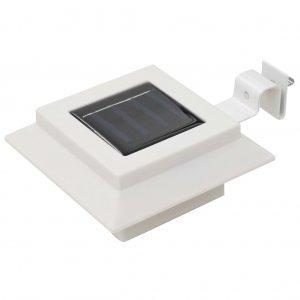 Φωτιστικά Εξωτ. Χώρου Ηλιακά 12 τεμ. LED Τετράγωνα Λευκά 12 εκ.